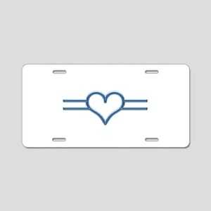 Love And Light Aluminum License Plate