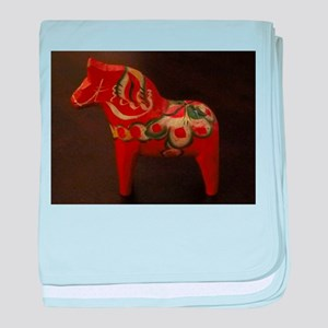 Dala Horse Foundation baby blanket