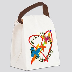 For The Love Of Art Canvas Lunch Bag