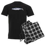 King Mackerel fish Men's Dark Pajamas
