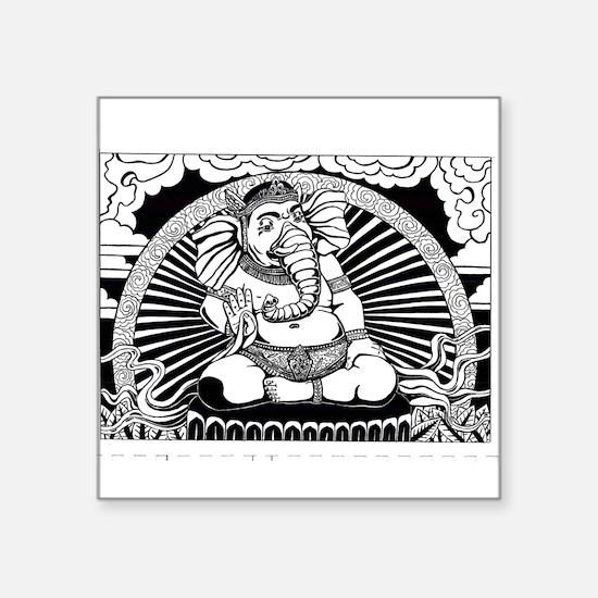 "Ganesh Square Sticker 3"" x 3"""