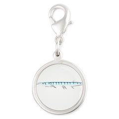 Halfbeak Ballyhoo Balao fish Silver Round Charm