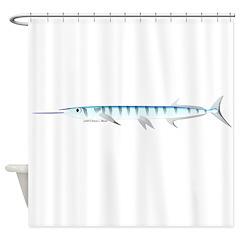 Halfbeak Ballyhoo Balao fish Shower Curtain