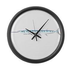 Halfbeak Ballyhoo Balao fish Large Wall Clock