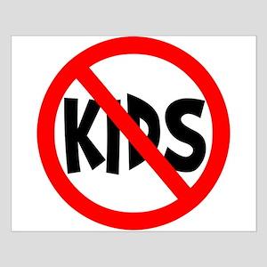 No Kids Small Poster