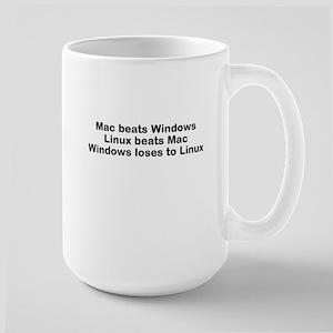 Linux beats all Large Mug