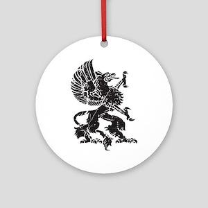 Griffin (Grunge Texture) Ornament (Round)