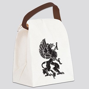 Griffin (Grunge Texture) Canvas Lunch Bag