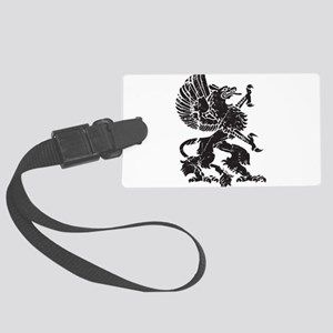 Griffin (Grunge Texture) Large Luggage Tag