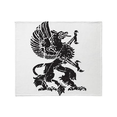 Griffin (Grunge Texture) Throw Blanket
