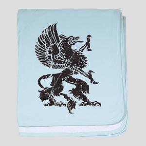 Griffin (Grunge Texture) baby blanket