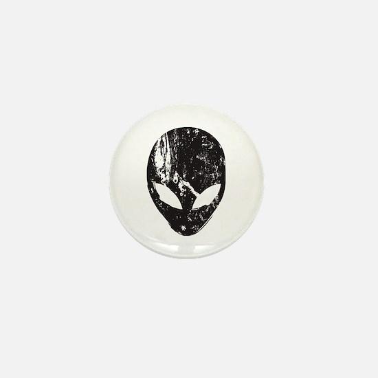 Alien Head (Grunge Texture) Mini Button