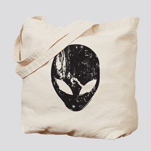 Alien Head (Grunge Texture) Tote Bag