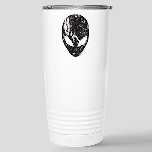 Alien Head (Grunge Texture) Stainless Steel Travel