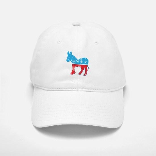 Democrat Donkey (Grunge Texture) Baseball Baseball Cap