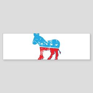 Democrat Donkey (Grunge Texture) Sticker (Bumper)