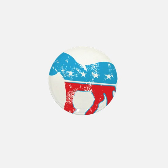 Democrat Donkey (Grunge Texture) Mini Button
