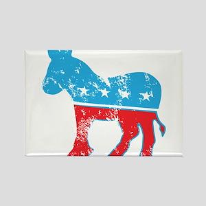 Democrat Donkey (Grunge Texture) Rectangle Magnet