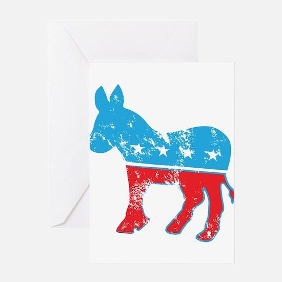 Democrat Donkey (Grunge Texture) Greeting Card