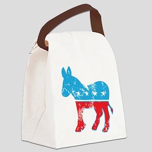 Democrat Donkey (Grunge Texture) Canvas Lunch Bag