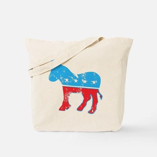 Democrat Donkey (Grunge Texture) Tote Bag