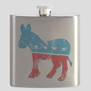 Democrat Donkey (Grunge Texture) Flask