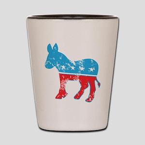 Democrat Donkey (Grunge Texture) Shot Glass