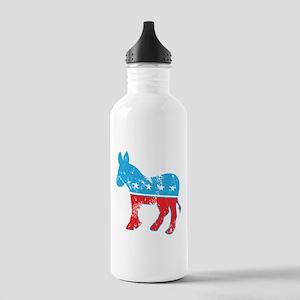 Democrat Donkey (Grunge Texture) Stainless Water B