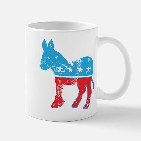 Democrat Donkey (Grunge Texture) Mug