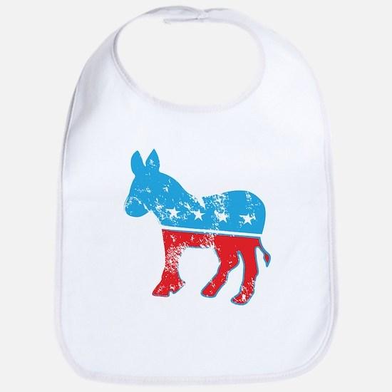 Democrat Donkey (Grunge Texture) Bib