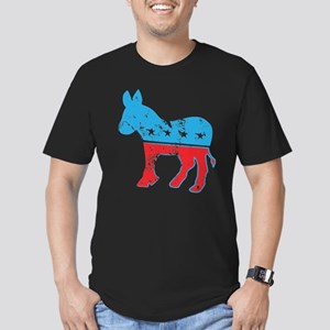 Democrat Donkey (Grunge Texture) Men's Fitted T-Sh