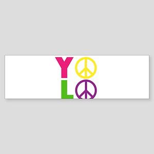 PEACE YOLO Sticker (Bumper)