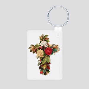 Rosy Cross Aluminum Photo Keychain