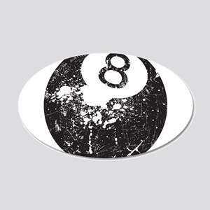 8 Ball 20x12 Oval Wall Decal