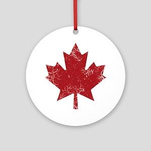 Maple Leaf Ornament (Round)