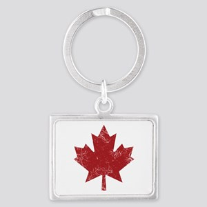 Maple Leaf Landscape Keychain