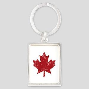 Maple Leaf Portrait Keychain