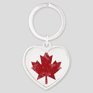 Maple Leaf Heart Keychain