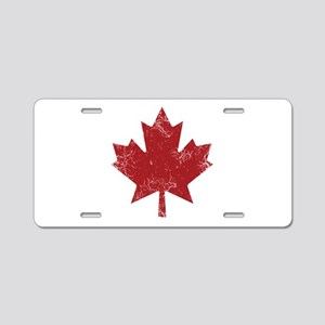 Maple Leaf Aluminum License Plate
