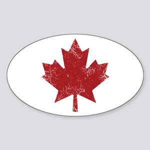 Maple Leaf Sticker (Oval)