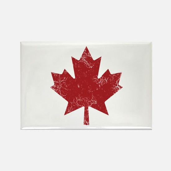 Maple Leaf Rectangle Magnet