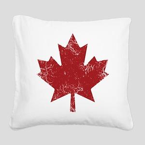 Maple Leaf Square Canvas Pillow