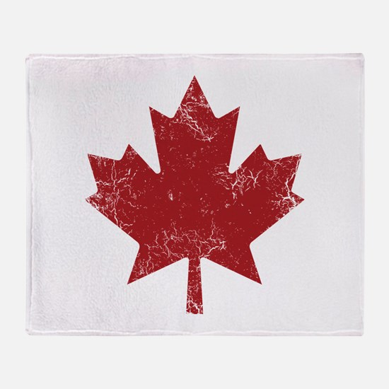 Maple Leaf Throw Blanket