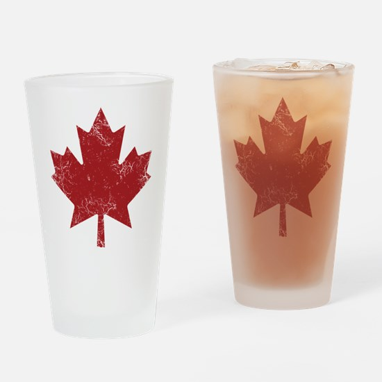 Maple Leaf Drinking Glass