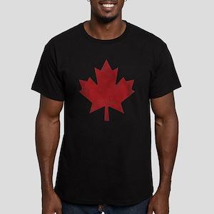 Maple Leaf Men's Fitted T-Shirt (dark)