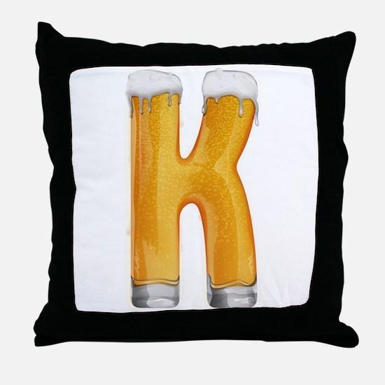 K Beer Throw Pillow