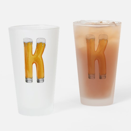 K Beer Drinking Glass
