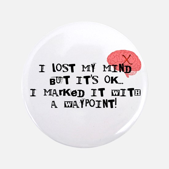 "Lost My Mind... 3.5"" Button"
