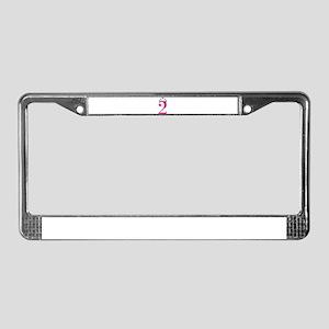 Second Birthday Princess License Plate Frame