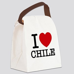 I LOVE (heart) CHILE Canvas Lunch Bag